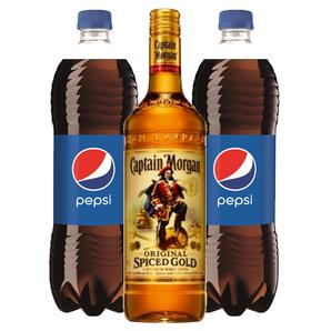 Captain Morgan Spiced Gold + 2x Pepsi Cola